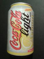 Alt675 Lattina Bibita Boite Boisson Can Drink Lata Coca Cola Light Lemon French Edition - Cannettes