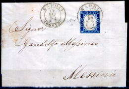 "Napoli-00122 - 15 Centesimi D´Italia, Sassone N.11, Obliterato ""NAPOLI/(PORTO)"". - 1861-78 Vittorio Emanuele II"