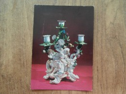 41874 POSTCARD: MUSEUM:  National Museum Of Wales: Candelabrum With The Figure Of Diogenes. Meissen Porcelain, C. 1750. - Museum