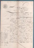 01 AIN - 1892 - VENTE DE VIGNE PRE TERRES ET BOIS A CHATILLON DE CORNEILLE BOYEUX SAINT JEROME - NIVOLLET MONTGRIFFON - - Manuscripts