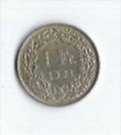 1 Franc 1961argent - Suiza