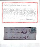 "Napoli-00126  ""SUCCURSALE A CHIAIA/14 MAR 65"" - Unico A Tutt'oggi!!! - 1861-78 Vittorio Emanuele II"