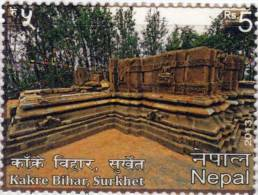 KAKRE BIHAR BUDDHIST-HINDU TEMPLE RUPEE 5 STAMP NEPAL 2013 MINT/MNH - Buddhism