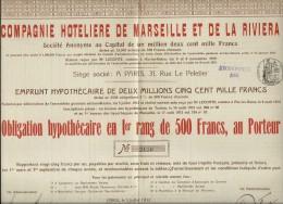 C. HOTELIERE DE MARSEILLE ET DE LA RIVIERA . 500FR - Tourisme
