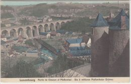 20165g  LUXEMBOURG - CLAUSEN - PFAFFENTHAL - 1909 - Colorisée - Luxemburg - Stad