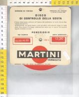 Z42135 DISCO ORARIO PARCHEGGIO AUTO PUBBLICITA AUTOMOBILE CLUB TORINO MARTINI