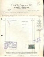 Faktuur Facture - Schoenen De Proost - Neigem Ninove 1956 - Droguerie & Parfumerie