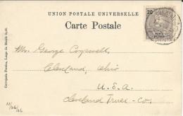 PORTUGAL - PONTA DELGADA - 1906 - CARTE Pour CLEVELAND (USA) - Ponta Delgada