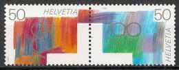 Suisse Schweiz Svizerra Switzerland 1991 Zumstein** Nos 807-808-809-810 Se Tenant Z91-Z92 - Se-Tenant