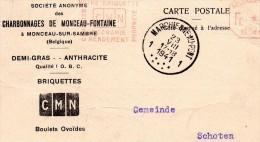 Monceau-sur- Sambre Marchienne-au-Pont  Charleroi  1941 Charbonnages de Monceau-Fontaine