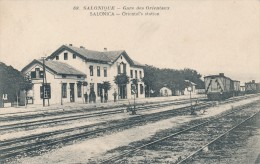 CPA GRECE - Salonique - Gare Des Orientaux - Grèce