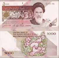 Iran - 5000 Rials Flowers UNC Ukr-OP - Iran