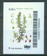 Biber Post Heilpflanze 2011, Rosmarin 0,45 € Gezähnt, Altes Logo A799 - [7] República Federal