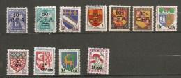Réunion CFA Lot 11 Timbres Neuf ** - Réunion (1852-1975)