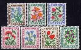 Andorre Taxe  N° 46 / 52 XX Flore : Fleurs Des Champs  : Les 7 Valeurs  Sans Charnière TB - Timbres-taxe