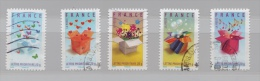 FRANCE N° 4082 à 4086 (YT) SERIE TIMBRES DE MESSAGE 2007 - Usados