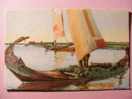 CPA Portugal - Illustrateur Alberto Souza - Apanha Do Moliço - Ria De Aveiro - Barque - Trachten & Folklore