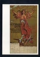 KUNSTLER UNBEKANNT - RIPRODUZIONE POSTER PLAKAT FUR GOTTHARD-BANN 1902 - Pubblicitari