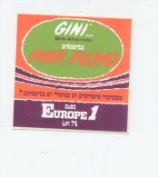 PINK FLOYD  En CONCERT 1974 EUROPE 1 Et GINI Lemon Tonic Première MONDIALE - Stickers