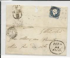 PORTUGAL - 1856 - LETTRE De PEZO - Marcophilie