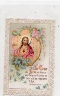 CANIVET LE COEUR DE JESUS  SE DONNE AVEC TOUS SES TRESORS AU COEUR QUI CONSACRE A LUI COLORISE - Images Religieuses
