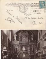 FRANCE : 1949 - Carte Postale De Pau Pour Paris - Marianne De Gandon - Brieven En Documenten