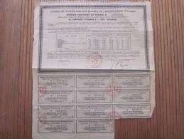 Conseil De La Dette Publique Répartie De L'ancien Empire Ottoman 4% 1902 DOUANES :ACTION ET TITRE 1933 - Banque & Assurance