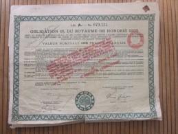 ROYAUME De HONGRIE. Obligation 6% De 1925 De 100 Francs Français  :ACTION ET TITRE 1925 MAGYAR - Banque & Assurance