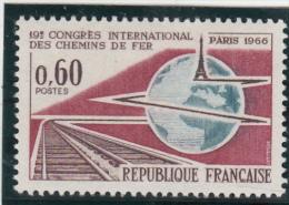 FRANCE  - 1966 - Yvert  1488 ** - Congrès Chemin De Fer - France