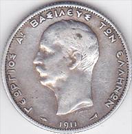 GRECE .2 DRACHMAI  1911 . GEORGES I . ARGENT - Grecia