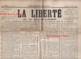 Journal Ancien - LA LIBERTé De La HAUTE MARNE - 26 Avril 1900 - Grands Articles Sur Chemin De Fer De Wassy à Doulevant - Zonder Classificatie
