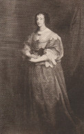 Queen Henrietta Maria (Vandyck) - Warwick Castle Collection. Post Card - Salmon Series. - Warwick