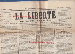 Journal Ancien - LA LIBERTé De La HAUTE MARNE - 13 Mai 1900 - Chroniques Locales De Saint Dizier & Villages - Elections - Newspapers