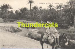 CPA TUNESIE TUNISIE  TOZEUR  PONT DE OUED EL BLED - Túnez