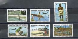 """BENIN :Poissons- Pêches Diverses : à L'épervier, à La Ligne, à La Nasse, à La Senne, """"Accadja"""" - Métier - Pêcheur - - Benin – Dahomey (1960-...)"""