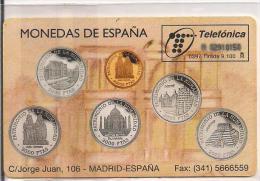 TARJETA MONEDAS DE ESPAÑA - Sellos & Monedas