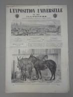 Exposition Universelle 1867 - Ducuing - No 44 Paris Weltausstellung Holzstiche  38,5 Cm - Libri, Riviste, Fumetti