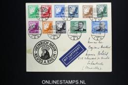 Deutsches Reich Cover 1934 Neuss To Brussels Mi 529 - 539   RR - Poste Aérienne
