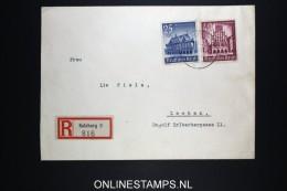 Deutsches Reich 1940 Registered Cover Salzburg To Leoben Austria Mi Nrs 758 + 759