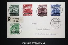 Deutsches Reich Luxemburg 2 Registered Covers 11-6-1941to Liebenburg Mi 33 - 41