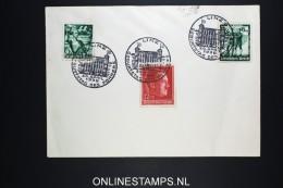 Deutsches Reich Cover 1938 Mi Nrs 660 + 662 + 664 Sonderstempel Linz Geburtstag Des Führers