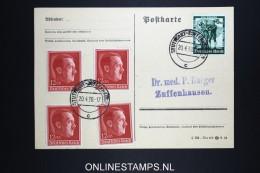 Deutsches Reich Postkarte 1938 Mi Nrs  664 4 X