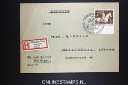 Deutsches Reich 1943 Mi 854 Sonder Stempel München Riem  Registered Cover München To Bad Segeberg