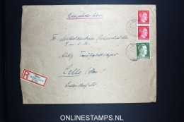 Deutsches Reich Syrau To Celle Mixed Stamps Registered Cover 1942 Mixed Stamps. - Deutschland