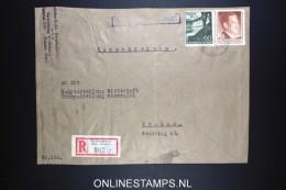 Deutsches Reich  General Gouvernement 1942 Registered Cover Drohobycz To Krakau Mixed Stamps Deutsche Dienstpost