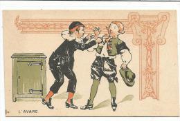 CHROMOS FARINE SALVY - L´AVARE. - Trade Cards