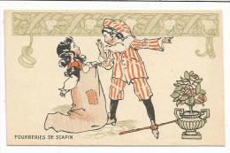 CHROMOS FARINE SALVY - LES FOURBERIES DE SCAPIN. - Trade Cards
