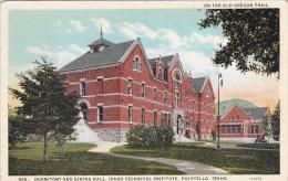 On The Old Oregon Trail Dormitory And Dining Hall Idaho Technical Institute Pocatello Idaho 1930 - Pocatello