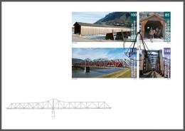 lie2130652 Liechtenstein 2013 Bridges bring together Horse Train FDC Michel Nr.1671-74