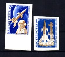 HONGRIE 1961 Y.Gagarine     1er Vol De L'homme Dans L'espace, 1429 /  1430** N D, (Mi 1753/54B), Cote 100 €, - Space